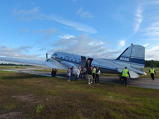 Boarding Douglas DC 3 Finnish Airlines