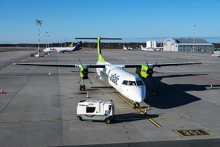 AirBaltic's Bombardier Dash 8 Q400 at Riga Airport