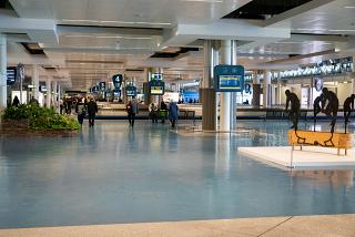 Baggage claim area at the airport Porto Francisco Carneiro Airport