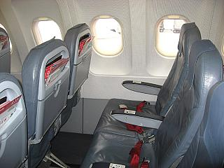 The passenger seats in the aircraft Airbus A320 Air Berlin