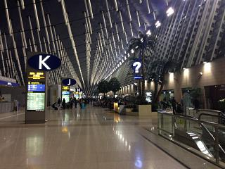 In terminal 1 of Shanghai Pudong international airport