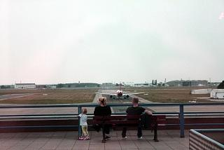 The observation deck at the airport Berlin-sch