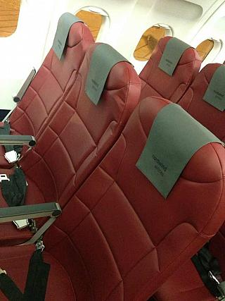 The passenger seats in the Airbus A321 aircraft to Nordwind airlines