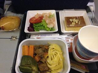 The food on Aeroflot flight Phuket-Moscow
