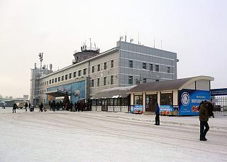 The terminal of the airport Yuzhno-Sakhalinsk Khomutovo