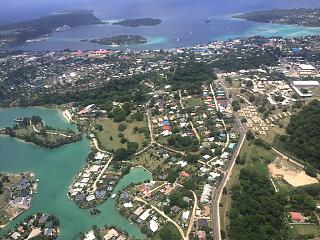 The view during takeoff at the capital of Vanuatu Port Vila