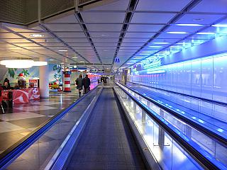 Travelator in terminal 1 of Munich airport