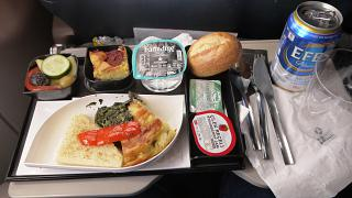 Flight meals on the flight of Turkish airlines Ekaterinburg-Istanbul