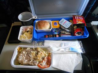 Food on the flight Izhavia Izhevsk-Moscow