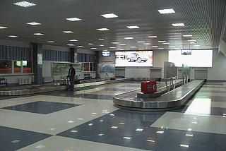 Baggage claim at the airport Krasnoyarsk Emelyanovo