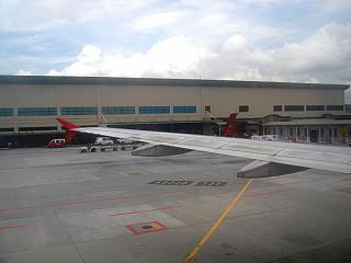 The low cost carrier terminal at the airport of Kuala Lumpur