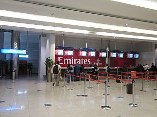 Representation of Emirates airlines in Dubai airport