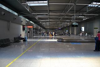 The baggage claim area at the airport Katowice