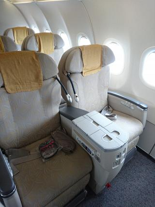 Business class in the Airbus A321 Asiana Airlines