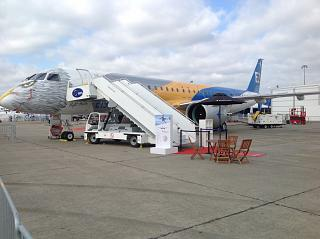 The Embraer 195-E2 at the air show in Le Bourget