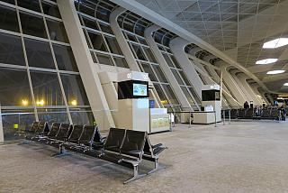 The gate in terminal 1 of airport Baku, Heydar Aliyev