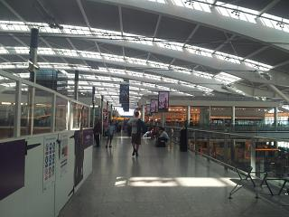 In Terminal 5 of Heathrow airport