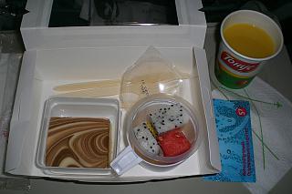 Десерт (второе питание) на рейсе Гонконг-Новосибирск авиакомпании S7 Airlines