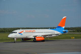 "Plane Sukhoi Superjet 100 RA-89095 airlines ""azimuth"" at the airport Kaluga"
