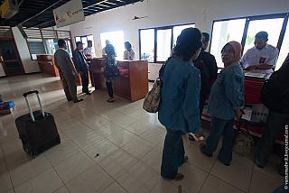 Check-in at the airport Komodo Labuan Bajo