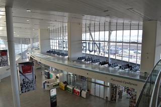 The view from the 3rd floor of terminal 1 of the airport to Samara Kurumoch