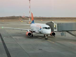 Sukhoi Superjet-100 of Azimuth Airlines at Platov airport