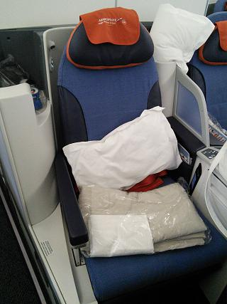 "Chair-cocoon in business class, ""the President of"" Boeing-777-300 Aeroflot"