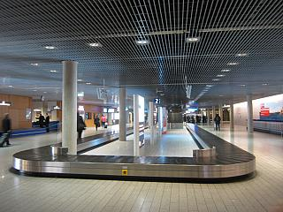Baggage claim at the airport of Luxembourg