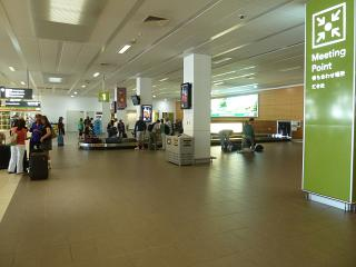 Baggage claim at the airport of Cairns