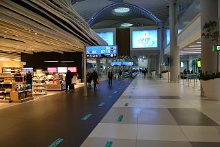 In Concourse B of the passenger terminal of Istanbul New Airport