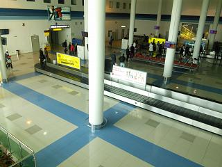 Baggage claim at the airport of Vladivostok