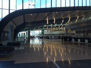 Зона регистрации в аэропорту Сэр Сивусагур Рамгулам