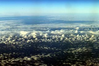 Clouds over Karelia during the flight Murmansk-Moscow
