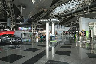 On the second floor of the passenger terminal of Porto airport