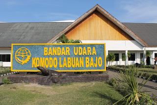 The terminal of the airport Komodo Labuan Bajo-airside