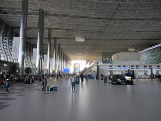 Central hall in the new passenger terminal of airport Simferopol