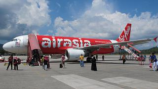 The Airbus A320 airline AirAsia Langkawi airport