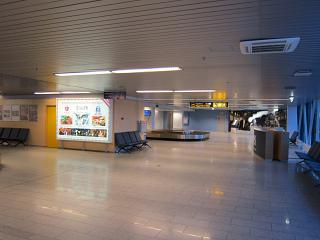 Baggage claim at the airport of Tallinn
