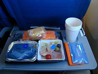The food on Aeroflot flight Omsk-Moscow