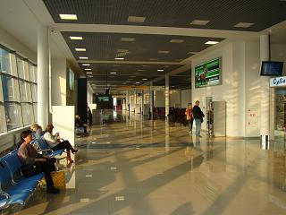 Net in the domestic flights area of the airport Vladivostok