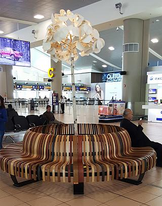 In the terminal building of the airport Quito Mariscal Sucre
