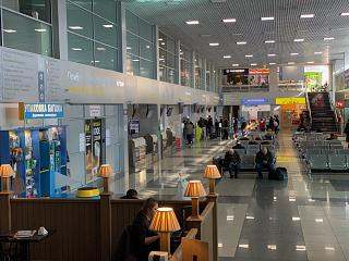 General hall of the passenger terminal of Voronezh airport