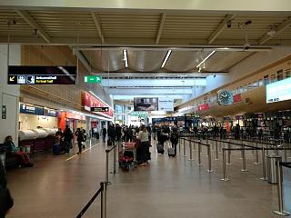 Check-in facility in terminal 5 of Stockholm airport Arlanda
