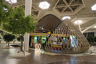 In the clean zone of terminal 1 of airport Baku, Heydar Aliyev