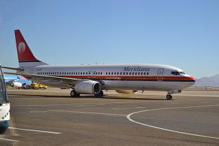 Boeing 737-800 авиакомпании Meridiana в аэропорту Шарм-Эль-Шейх