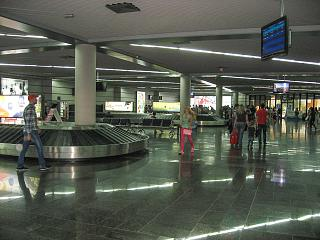 Hall baggage claim at the airport of Sochi