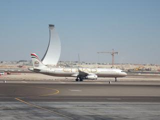 Airbus A321 Etihad Airways at Abu Dhabi airport