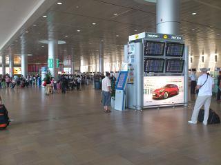 Зона вылета в аэропорту Бен-Гурион в Тель-Авиве