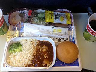 Питание на рейсе Пафос-Москва авиакомпании Трансаэро