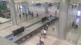 The baggage claim area at the airport in Ho Chi Minh city tan son Nhat